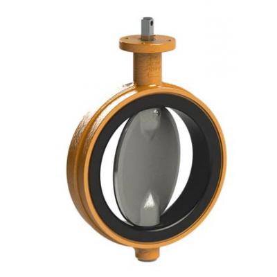 Запорная заслонка EVS межфланцевого типа с резиновой футеровкой